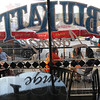 Tribune-Star/Jim Avelis<br /> Fair weather friends: Customers of the newly opened Blu Katt Lounge enjoy their beverages outside Friday evening at the grand opening.