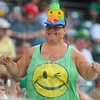 Fan support: North Central bus driver and fan Tina Johnson gets into the spirit of the game.