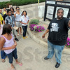 Tribune-Star/Jim Avelis<br /> On tour: Ron Redden, right, gives a tour of the Indiana State University campus to some of the attendees of the NAACP Youth Summit Friday evening. About 25-35 youth from around the stare are expecteted to take Part in the conference that continues today.