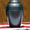 Ben: Terre Haute Police Department k-9 Ben's remains are contained in an urn on display during the memorial service Friday.