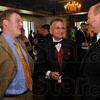 Tribune-Star/Jim Avelis<br /> Gathering: Glen Heck of Terre Haute Young Leaders chats with Rod Henry, President of the Terre Haute Chamber of Commerce and Brain Bauer, CEO of Regional Hospital and Master of Ceremonies for the annual THCC dinner Friday evening.