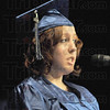 Student speaker: Graduating McLean student Lauren Mason gives a few brief remarks during the Friday night commencement.