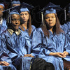 Address: Graduating McLean High School students listen to the graduation address by Mayor Duke Bennett Friday night.
