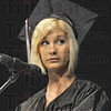 Speaker: Danielle Harrison gives her commencement speech during Friday's graduation ceremony,