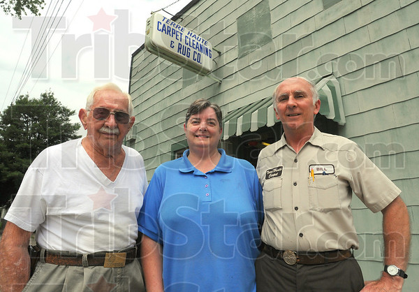 Tribune-Star/Jim Avelis<br /> Family affair: Albert Siebenmorgan with Delania and Bill Siebenmorgan.