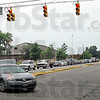 Danger zone: Traffic turns north onto 7th Street from Davis Avenue Friday afternoon at one of the most dangerous intersections in Terre Haute.