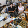 Tribune-Star/Jim Avelis<br /> Office space: David and Penny Shaw in the office of Flying S Inc. where their company makes high-grade components for the aerospace industry.