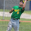 Tribune-Star/Jim Avelis<br /> Backup: Nate Lyday snares a popup against Rising Sun Saturday afternoon. A stingy defense backed up pitcher Connor Strain, alowing a complete game shutout for the Junior standout.