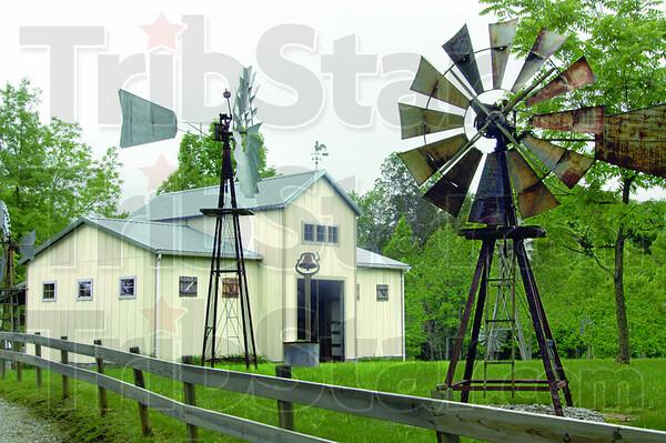 Windmills: Neal Yerian property near Poland, Indiana.