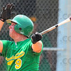 Tribune-Star/Jim Avelis<br /> Big blast: Craig Bell launches a two run home to put the game against Rising Sun out of reach.