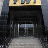 Tribune-Star/Jim Avelis<br /> Enter here: The logo still remains on the old TWI building, soon to be Radio City Apartments.