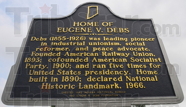 Historical: The Historical marker in front of the Eugene V. Debs home on North Eighth street in Terre Haute.