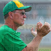 Tribune-Star/Jim Avelis<br /> Coach: Craig Grow applaudes his team's effort in their morning regional game.
