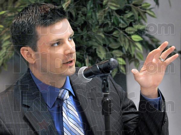 Public Access Counselor: Andrew Kossack, Indiana Public Access Counselor speaks during Wednesday's seminar at ISU.