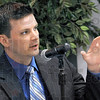 Public Access Counselor: Andrew Kossack, Indiana Public Access Counselor speaks during Wednesday's seminar at ISU.
