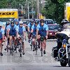 Firefighters: A group of firefighter cyclists travel westbound on Wabash Ave Wednesday afternoon enroute to a meeting with Terre Haute Fire Chief Jeff Fisher.