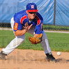Tribune-Star/Jim Avelis<br /> Stopper: Post 346 second baseman Ricky Wheatfill eyes a ground ball.
