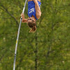 Tribune-Star/Joseph C. Garza<br /> Up and over: Indiana State's Kylie Hutson vaults over the bar on her first attempt during the Pacesetter Invitational Saturday, May 2 at Marks Field.