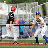 Pick-off: Rex first baseman Mitch Osnowitz waits for an incoming throw during a pick-off attempt Wednesday night.