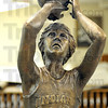 LARRY BIRD CUT-OUT: DETAIL OF BIRD STATUE.
