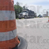 Tribune-Star/Rachel Keyes<br /> Merging problems: A trash truck tries to merge into oncoming traffic going east on I-70.