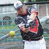 Tribune-Star/Rachel Keyes<br /> Kill it: Kevin Kull during hitting practice Sunday afternoon.