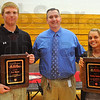 Tribune-Star/Jim Avelis<br /> The best: A.J. Reed and Haley Seibert were selected as this years' McMillan Award winners. The announcement wa made by Terre Haute South principal Chris Mauk at a morning all-school assembly Tuesday.