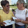 Tribune-Star/Jim Avelis<br /> Support: Ann Smith, mother of the missing Morgan Johnson, talks with Doreen Javins at a gathering Tuesday evening.
