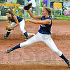 Rock and fire: Riverton Parke's #2, Haley Chambers fires a pitch to the plate during game action Saturday afternoon.