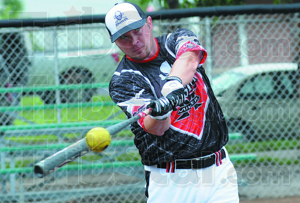 Tribune-Star/Rachel Keyes<br /> Kill it: Kevin Kull during hitting practice Sunday afternoon.