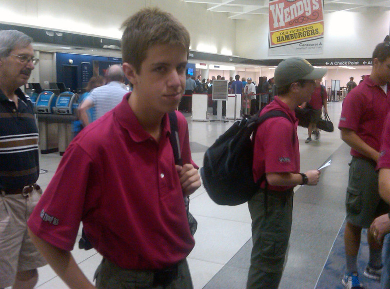 Jacob - leaving for Philmont Scout Ranch in New Mexico