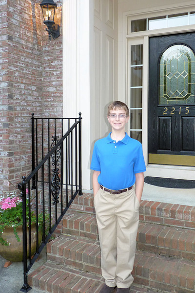Anthony, fifth-graduation morning