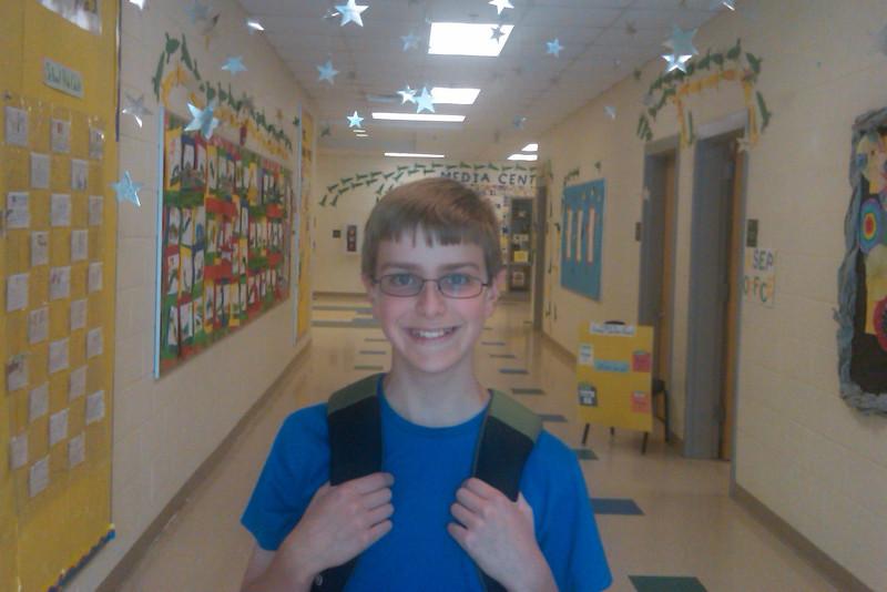 Anthony's last day of elementary school