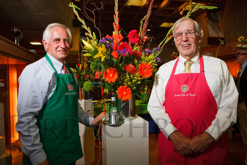 (Denver, Colorado, June 2, 2011)<br /> Paul Grenney and Bill Harvey with their winning arrangement.  Garden Club of Denver event at the Denver Botanic Gardens in Denver, Colorado, on Thursday, June 2, 2011.<br /> STEVE PETERSON