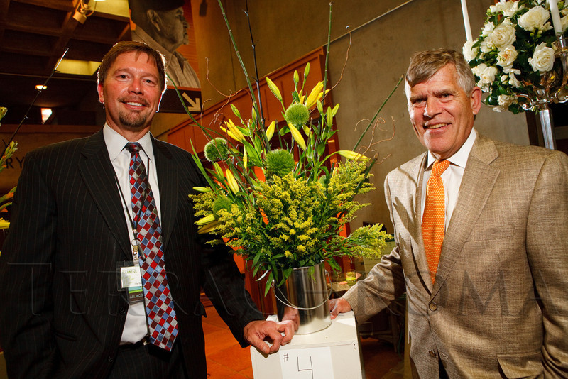(Denver, Colorado, June 2, 2011)<br /> Brian Vogt and Don Elliman.  Garden Club of Denver event at the Denver Botanic Gardens in Denver, Colorado, on Thursday, June 2, 2011.<br /> STEVE PETERSON
