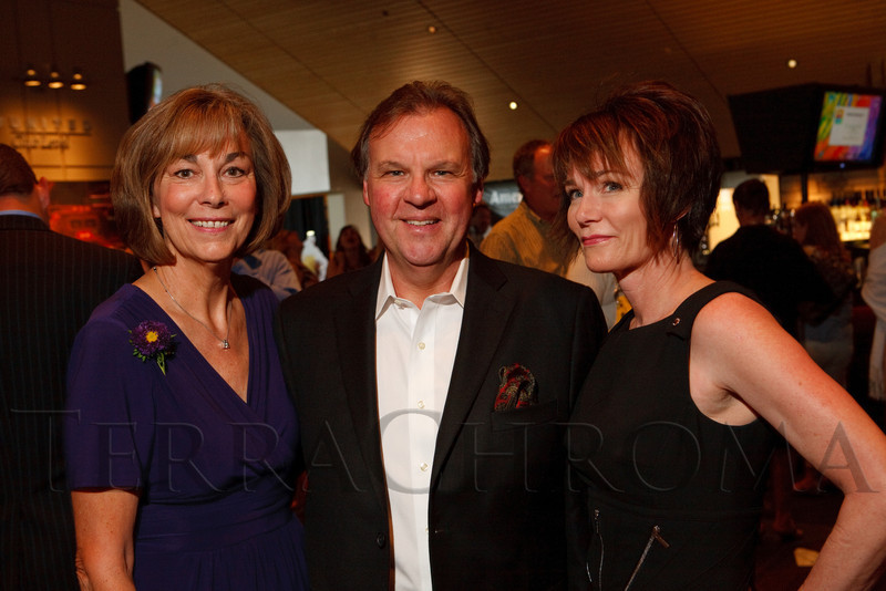 (Denver, Colorado, June 9, 2011)<br /> Linda Mitchell with Gregg (AAC board chair) and Kelly Rogers.  The 17th annual Memories in the Making Art Auction, benefiting the Alzheimer's Association of Colorado, at Invesco Field at Mile High near the Denver, Colorado, on Thursday, June 9, 2011.<br /> STEVE PETERSON