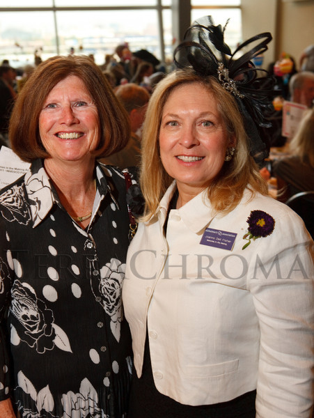 (Denver, Colorado, June 9, 2011)<br /> Mary McNicholas and Joanne Fisher.  The 17th annual Memories in the Making Art Auction, benefiting the Alzheimer's Association of Colorado, at Invesco Field at Mile High near the Denver, Colorado, on Thursday, June 9, 2011.<br /> STEVE PETERSON