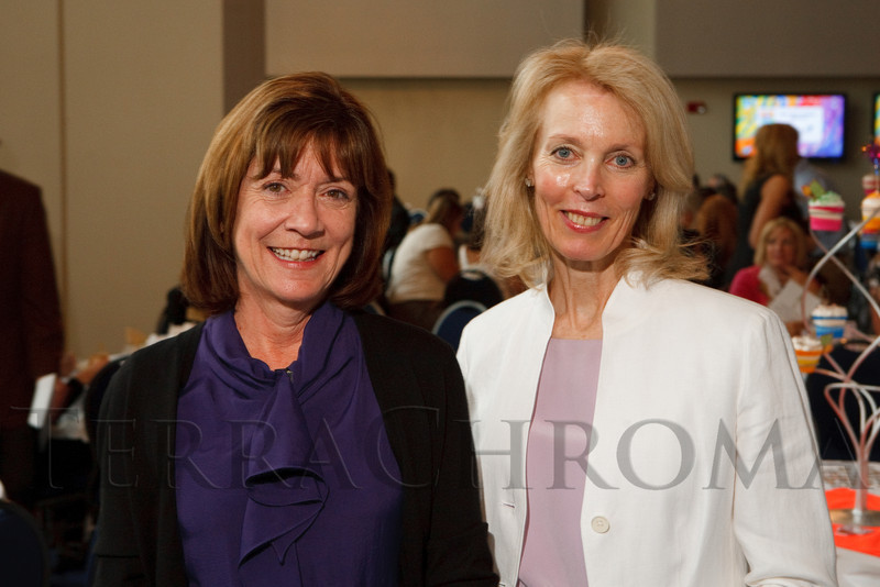 (Denver, Colorado, June 9, 2011)<br /> Kathy Klugman and Jerilyn Bensard.  The 17th annual Memories in the Making Art Auction, benefiting the Alzheimer's Association of Colorado, at Invesco Field at Mile High in Denver, Colorado, on Thursday, June 9, 2011.<br /> STEVE PETERSON