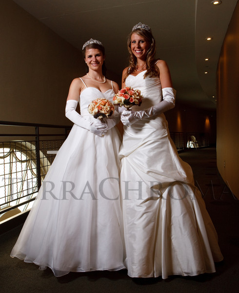 "(Denver, Colorado, June 11, 2011)<br /> Emily Griffith and Caroline Coffin.  The Denver Ballet Guild presents The Forty-Third Annual Le Bal de Ballet, themed ""Fabergé 2011,"" at Ellie Caulkins Opera House and the Sheraton Denver Downtown Hotel in Denver, Colorado, on Saturday, June 11, 2011.<br /> STEVE PETERSON"