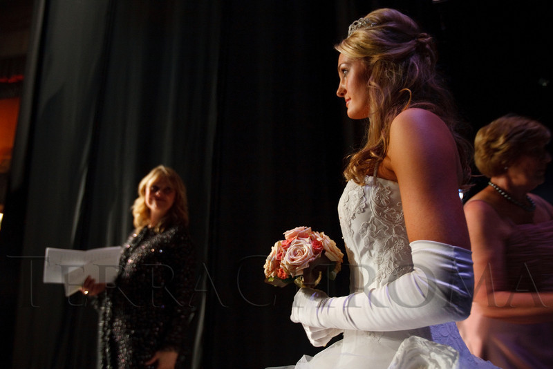 "(Denver, Colorado, June 11, 2011)<br /> Claire McCloskey is the next debutante to be presented.  The Denver Ballet Guild presents The Forty-Third Annual Le Bal de Ballet, themed ""Fabergé 2011,"" at Ellie Caulkins Opera House and the Sheraton Denver Downtown Hotel in Denver, Colorado, on Saturday, June 11, 2011.<br /> STEVE PETERSON"