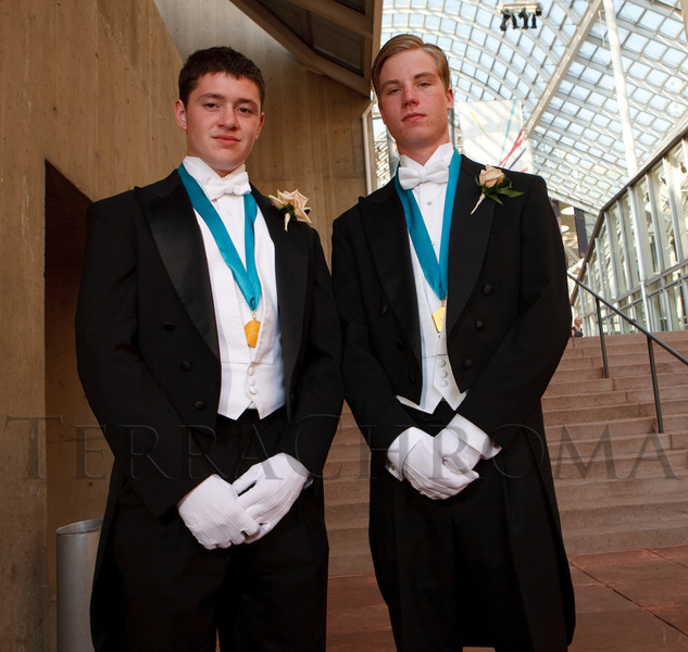 "(Denver, Colorado, June 11, 2011)<br /> Erik Yakes and Chris Deline.  The Denver Ballet Guild presents The Forty-Third Annual Le Bal de Ballet, themed ""Fabergé 2011,"" at Ellie Caulkins Opera House and the Sheraton Denver Downtown Hotel in Denver, Colorado, on Saturday, June 11, 2011.<br /> STEVE PETERSON"