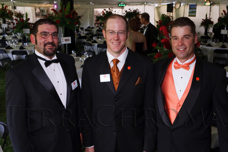 (Littleton, Colorado, June 24, 2011)<br /> Luke Carleo, Chris Haeck (Denver Active 20-30 Children's Foundation president), and John Corbett (event chair).  The Del Frisco's - Sullivan's Black Tie Ball, benefitting Denver Active 20-30 Children's Foundation, at Polo Reserve Development in Littleton, Colorado, on Friday, June 24, 2011.<br /> STEVE PETERSON