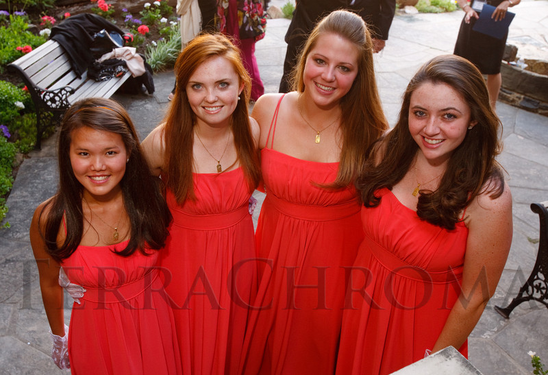 "(Central City, Colorado, June 25, 2011)<br /> Mariah Himelspach, Caroline Tryba, Lucy Stockdale, and Kathleen Koenigs.  The Central City Opera ""Yellow Rose Ball,"" presenting the 2011 Flower Girls, at the Central City Opera House in Central City, Colorado, on Saturday, June 25, 2011.<br /> STEVE PETERSON"