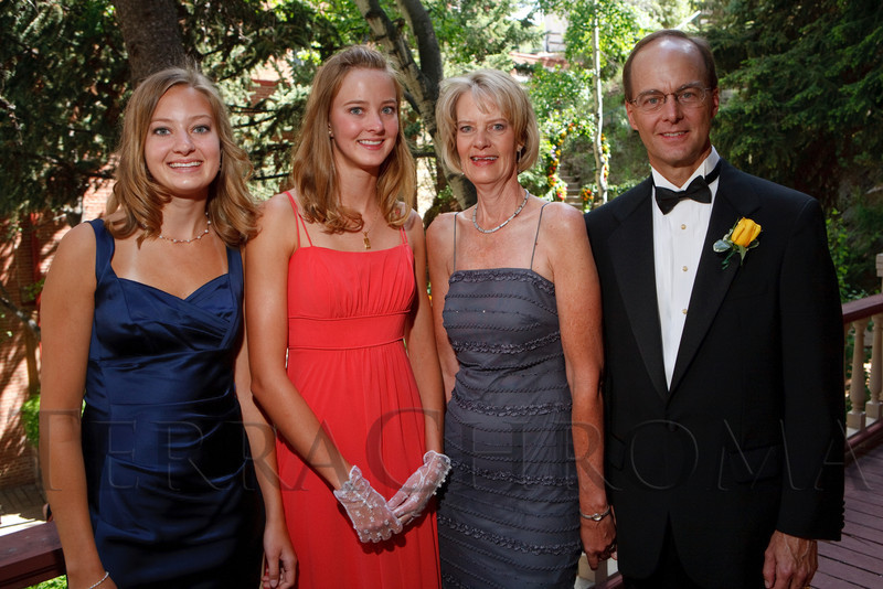 "(Central City, Colorado, June 25, 2011)<br /> Emily, Jennifer, Sue, and Lou Clinton.  The Central City Opera ""Yellow Rose Ball,"" presenting the 2011 Flower Girls, at the Central City Opera House in Central City, Colorado, on Saturday, June 25, 2011.<br /> STEVE PETERSON"