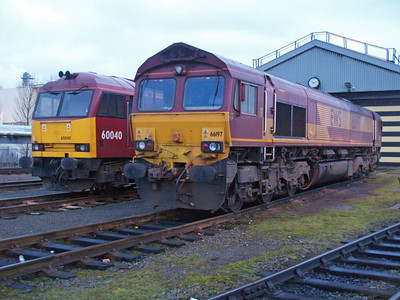 66197 and 60040  on Immingham TMD 22/01/11