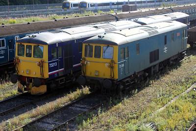 73213 and 73208 at Tonbridge Yard