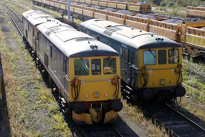 73213 73212 and 73208 at Tonbridge Yard