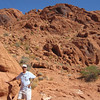 """VALLEY OF FIRE"" NEAR LAS VEGAS...ALL THE ROCKS ARE RED COLORED"