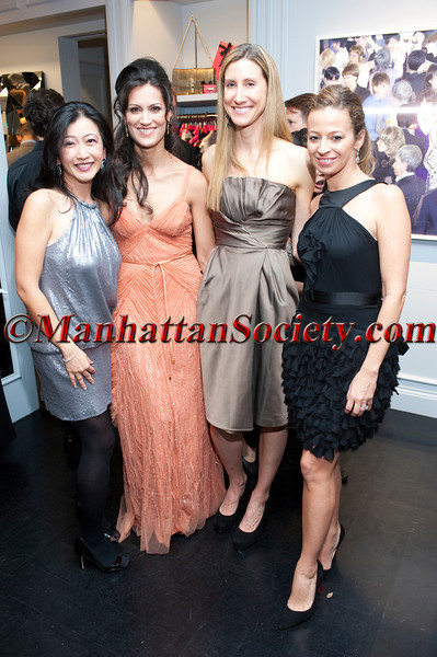 Rebecca Correa, Yliana Yepez, Abigail Adams, Michelle Smith attend 'Celebrate the Neighborhood' to Benefit LENOX HILL NEIGHBORHOOD HOUSE co-hosted by Milly & The Associates Committee on Wednesday, November 30, 2011 at Milly Boutique, 900 Madison Avenue at 73rd Street, New York City, NY   PHOTO CREDIT: ©Manhattan Society.com 2011 by Christopher London