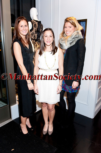 Julia Smith, Katie Finkowski, Nora Tarr attend 'Celebrate the Neighborhood' to Benefit LENOX HILL NEIGHBORHOOD HOUSE co-hosted by Milly & The Associates Committee on Wednesday, November 30, 2011 at Milly Boutique, 900 Madison Avenue at 73rd Street, New York City, NY   PHOTO CREDIT: ©Manhattan Society.com 2011 by Christopher London